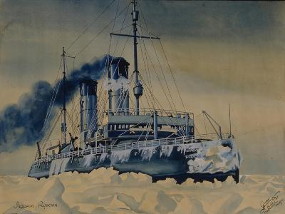 Icebreaker Krasin Among Ice Floes in the Barents Sea, 1932--Giclee Print