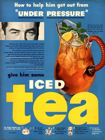 Iced Tea, USA, 1950--Giclee Print