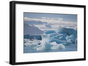 Iceland. East Region. Jokulsarlon. Glacial Lake. Icebergs in the Lake-Inger Hogstrom-Framed Photographic Print