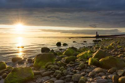 Iceland, Gardskagi, Lighthouse, Sunset-Catharina Lux-Photographic Print