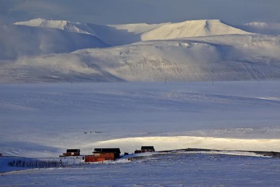 Iceland, Iceland, North-East, Winter Scenery with Saltvik, Federal Highway 87 to Husavik-Bernd Rommelt-Photographic Print