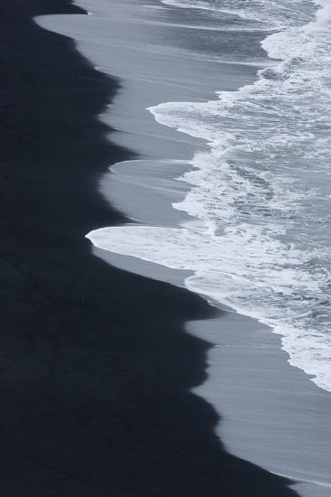 Iceland, Ingolshofdi, Water Rushing Up on Lava Sand-Hollice Looney-Premium Photographic Print