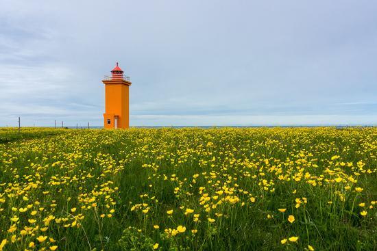 Iceland, Peninsula Reykjanes, Lighthouse-Catharina Lux-Photographic Print