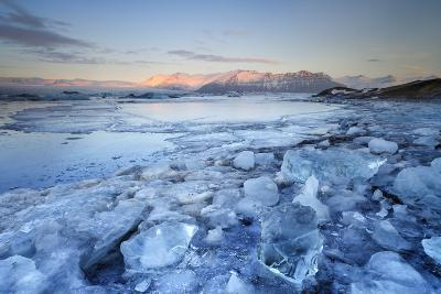 Iceland, South Iceland, Jokulsarlon Lagoon During the First Light of Sunrise-Fortunato Gatto-Photographic Print
