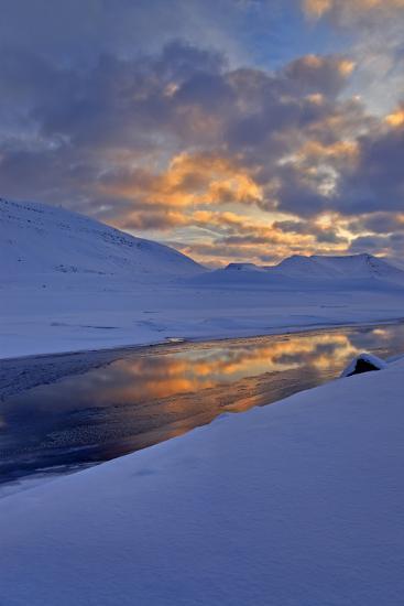 Iceland, West Fjords, Winter Scenery in the Dyrafjördur Close Pingeyri-Bernd Rommelt-Photographic Print