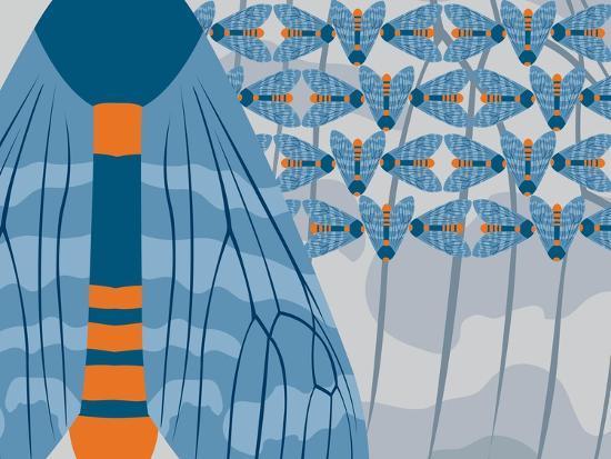 Icelandic Blue Bees-Belen Mena-Giclee Print