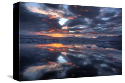 Icelandic Sunset-Maciej Duczynski-Stretched Canvas Print