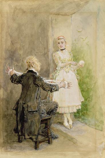 Ichabod Crane and Katrin Van Tassel, C.1893-George Henry Boughton-Giclee Print