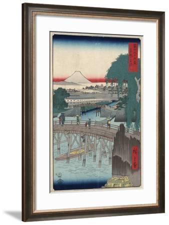 Ichikobu Bridge, 1858-Utagawa Hiroshige-Framed Giclee Print