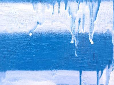Icicles on Wintered Glass--Photographic Print