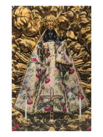 Icon of Black Virgin and Child--Art Print