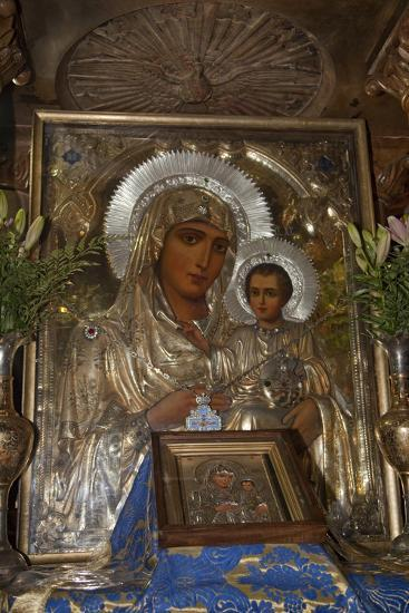 Icon of Mary and Jesus, Tomb of the Virgin Mary, Jerusalem, Israel, 2009--Photographic Print