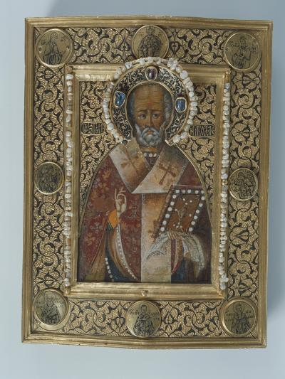 Icon of St. Nicolas the Miracle Worker, Kremlin Workshops, Moscow, Second Half of the 16th Century--Giclee Print