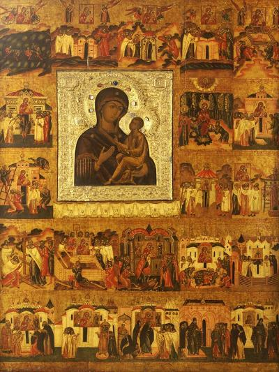 Icon of the Mother of God Tikhvinskaia, Central Russia, First Half of the 17th Century--Giclee Print
