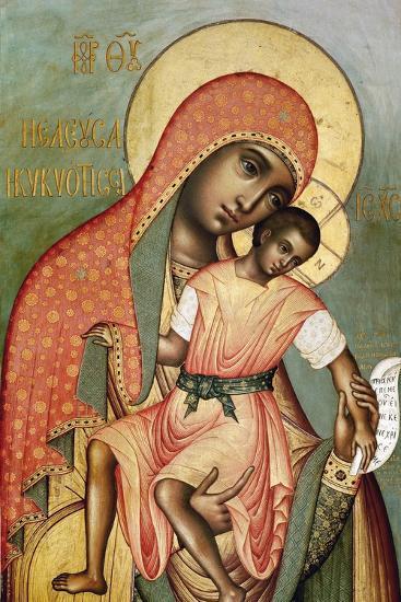 Icon of the Virgin Eleousa of Kykkos-Simon Ushakov-Giclee Print