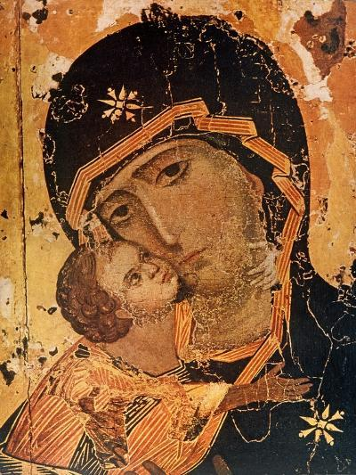 Icon (Oil on Wood Panel)-Russian-Giclee Print