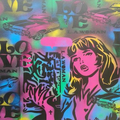 Iconic Love-Abstract Graffiti-Giclee Print