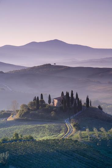 Iconic Tuscan Farmhouse, Val D' Orcia, UNESCO World Heritage Site, Tuscany, Italy, Europe-Doug Pearson-Photographic Print
