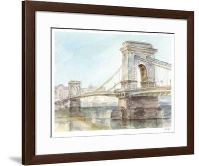 Iconic Watercolor Bridge I-Ethan Harper-Framed Limited Edition