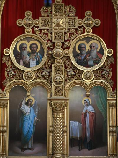 Iconostasis in Aghios Andreas Monastery Church on Mount Athos, Greece, Europe-Godong-Photographic Print