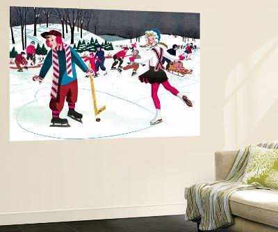 Icy Valentine - Jack & Jill-Beth Henninger-Wall Mural