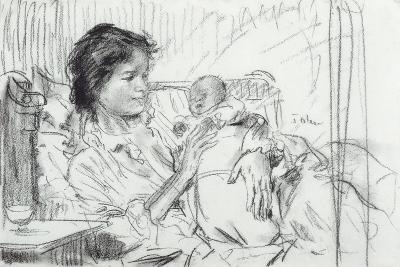 Ida and Child-Augustus Edwin John-Giclee Print