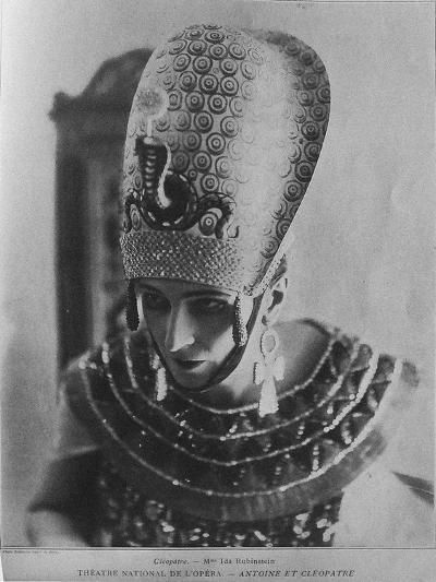Ida Rubinstein as Cleopatra in the Ballet Antoine Et Cléopâtre, C. 1920--Giclee Print