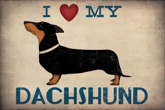 IDachshund Longboards - Love v2-Ryan Fowler-Art Print