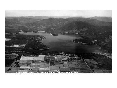 Idaho - Hayden Lake Aerial-Lantern Press-Art Print