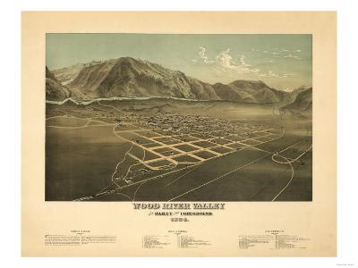 Idaho - Panoramic Map of Hailey-Lantern Press-Art Print