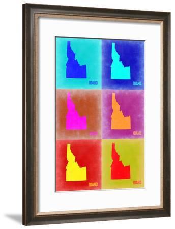 Idaho Pop Art Map 2-NaxArt-Framed Photo