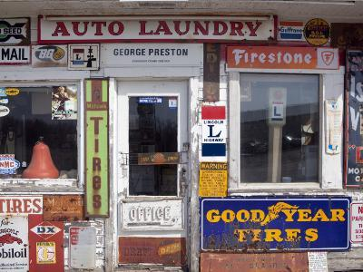 Idaho, Usa; Signs on an Old Gas Station in the American Midwest-Dan Bannister-Photographic Print