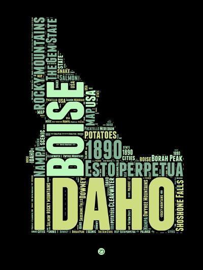 Idaho Word Cloud 1-NaxArt-Art Print