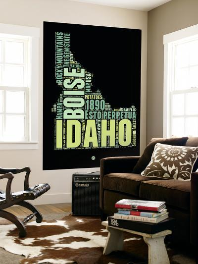 Idaho Word Cloud 1-NaxArt-Wall Mural