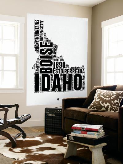 Idaho Word Cloud 2-NaxArt-Wall Mural