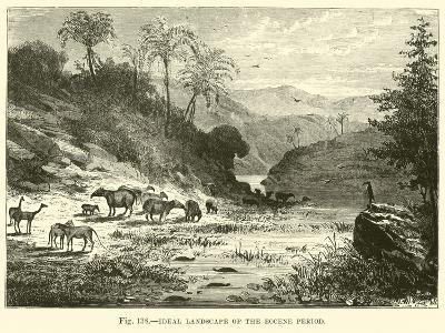Ideal Landscape of the Eocene Period--Giclee Print