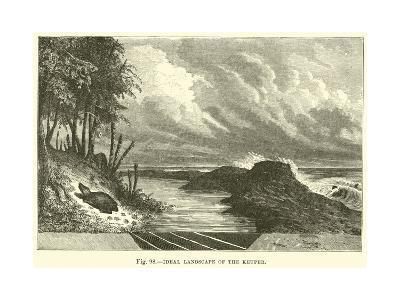 Ideal Landscape of the Keuper--Giclee Print