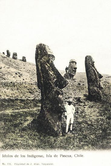 Idolos De Los Lndigenas, Isla De Pascua, Chile - Idols of the Indians--Giclee Print