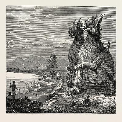 Idols on the Banks of the River Irrawaddy, Burmah--Giclee Print