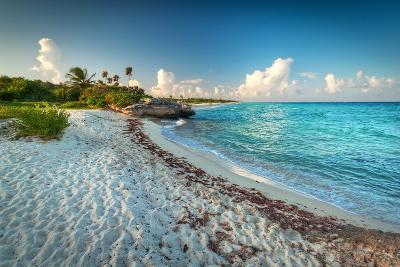 Idyllic Beach of Caribbean Sea in Playacar - Mexico-Patryk Kosmider-Photographic Print