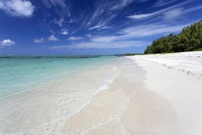 Idyllic Beach Scene with Blue Sky, Aquamarine Sea and Soft Sand, Ile Aux Cerfs-Lee Frost-Photographic Print