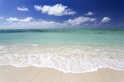 Idyllic Beach Scene with Blue Sky, Aquamarine Sea and Soft Sand, Ile Aux Cerfs-Lee Frost-Photographic Print