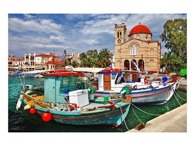 Idyllic Greek Island Aegina--Art Print