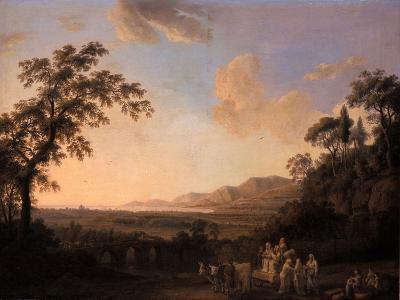 Idyllic Landscape at Dusk, 1782-Jacob-Philippe Hackert-Giclee Print