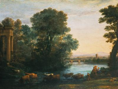 Idyllic Landscape During Sunset, 1670-Claude Lorraine-Giclee Print