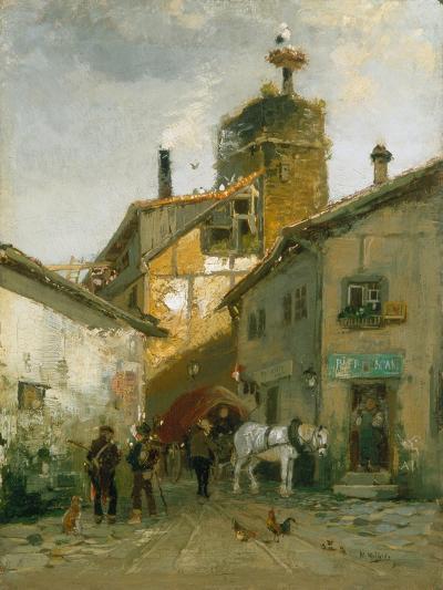 Idyllic Village-Hugo Mühlig-Giclee Print