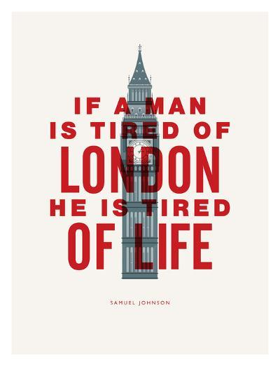 If A Man Is Tired Of London-Brett Wilson-Art Print
