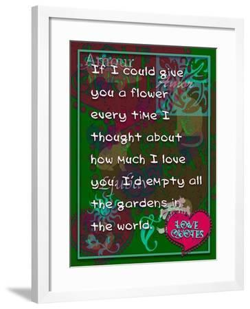 If I Could Give You Flower-Cathy Cute-Framed Giclee Print