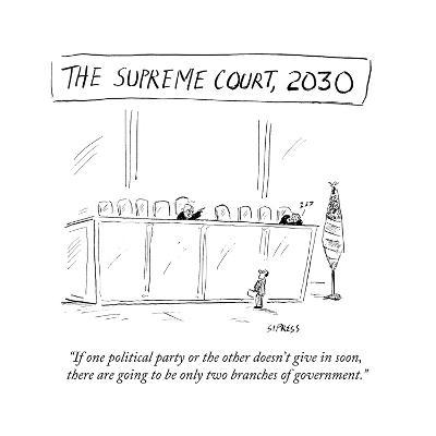 """""""If one political party or the other doesn't give in soon, there are going?"""" - Cartoon-David Sipress-Premium Giclee Print"""