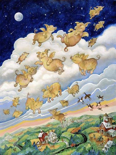 If Pigs Could Fly-Bill Bell-Giclee Print